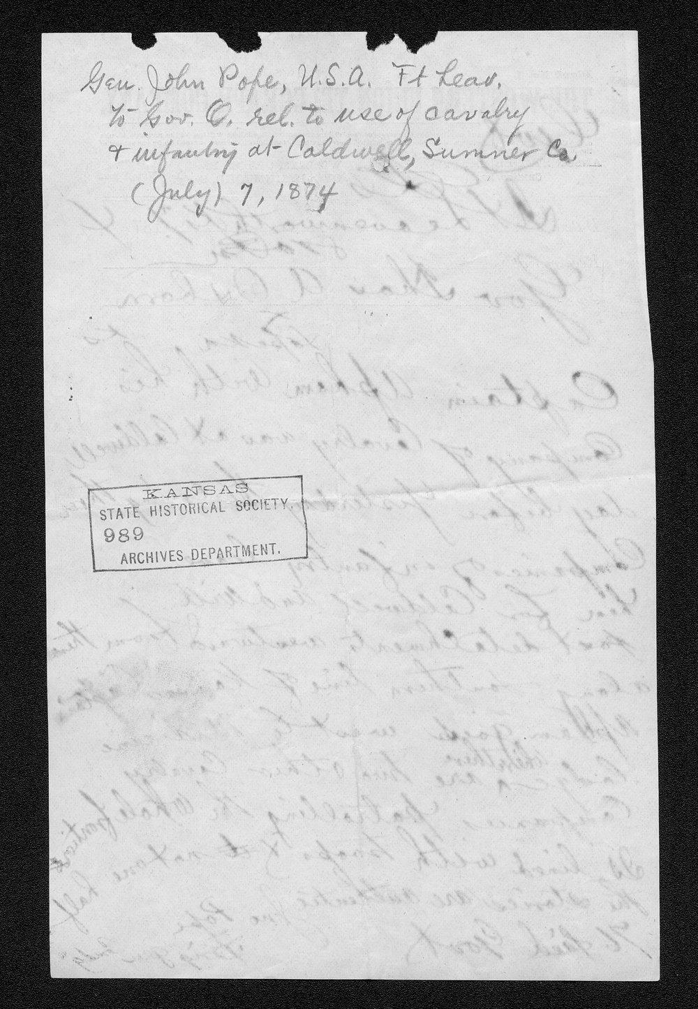 Governor Thomas Osborn Indian affairs received correspondence - 221