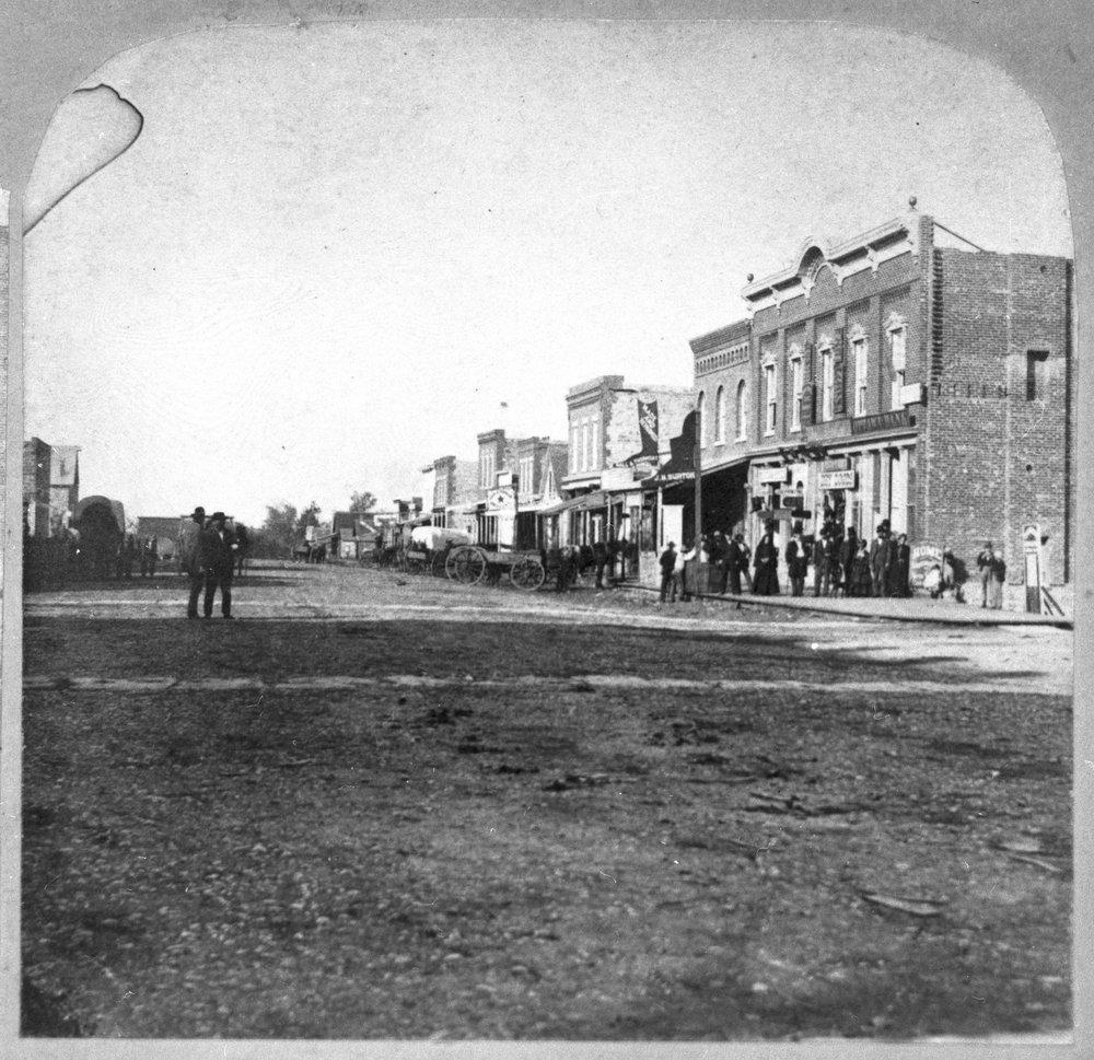 Street scenes in Ottawa, Kansas - Ottawa street scene.  East side of the 100 block of south Main. Photo *3