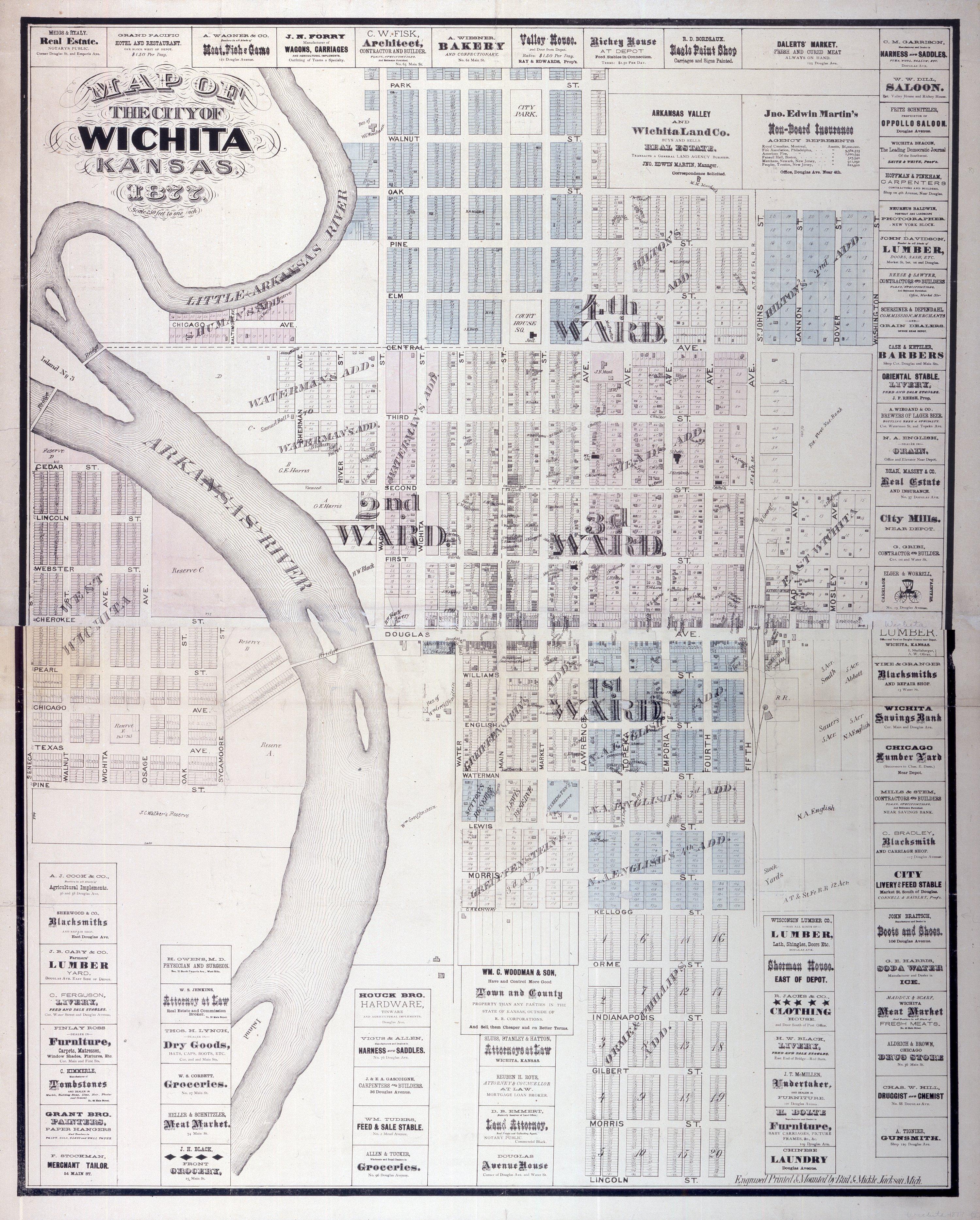 Map of the city of Wichita, Kansas