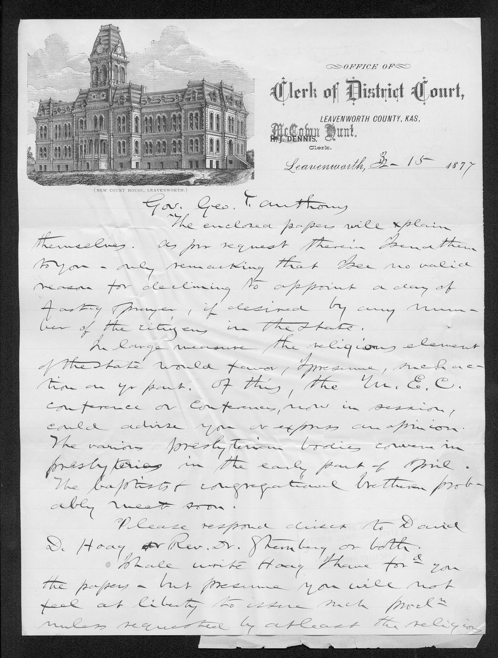 Governor George Anthony grasshoppers received correspondence - 5