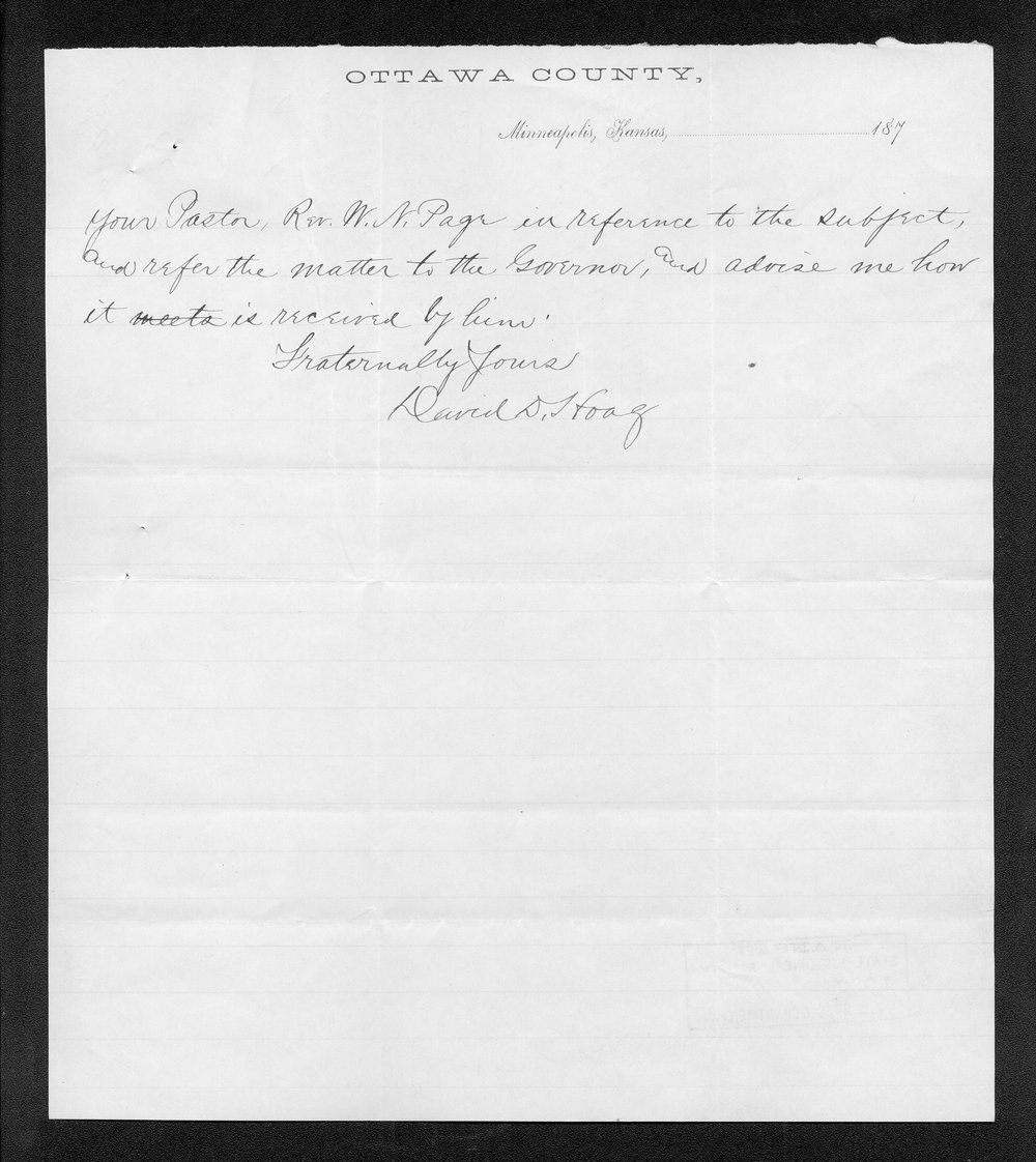 Governor George Anthony grasshoppers received correspondence - 8