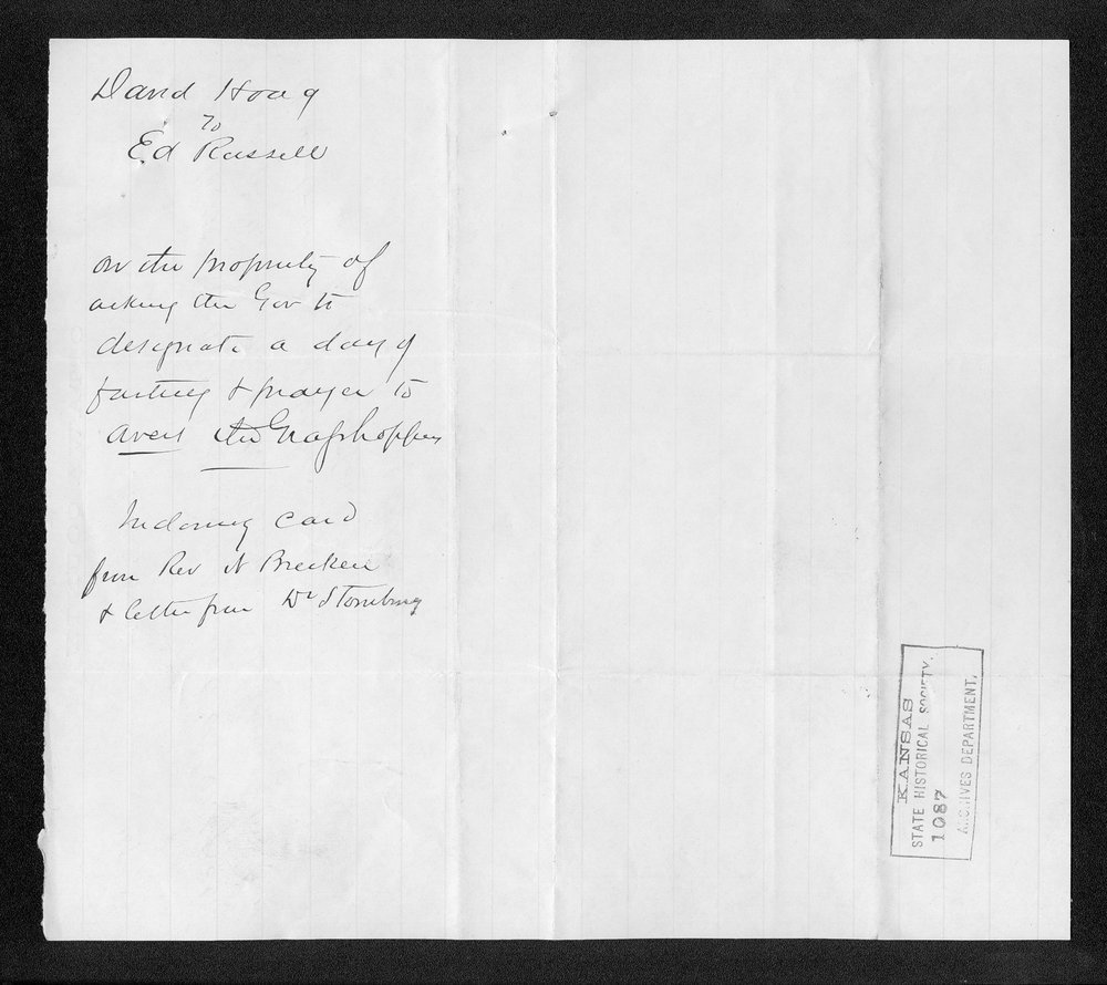 Governor George Anthony grasshoppers received correspondence - 9
