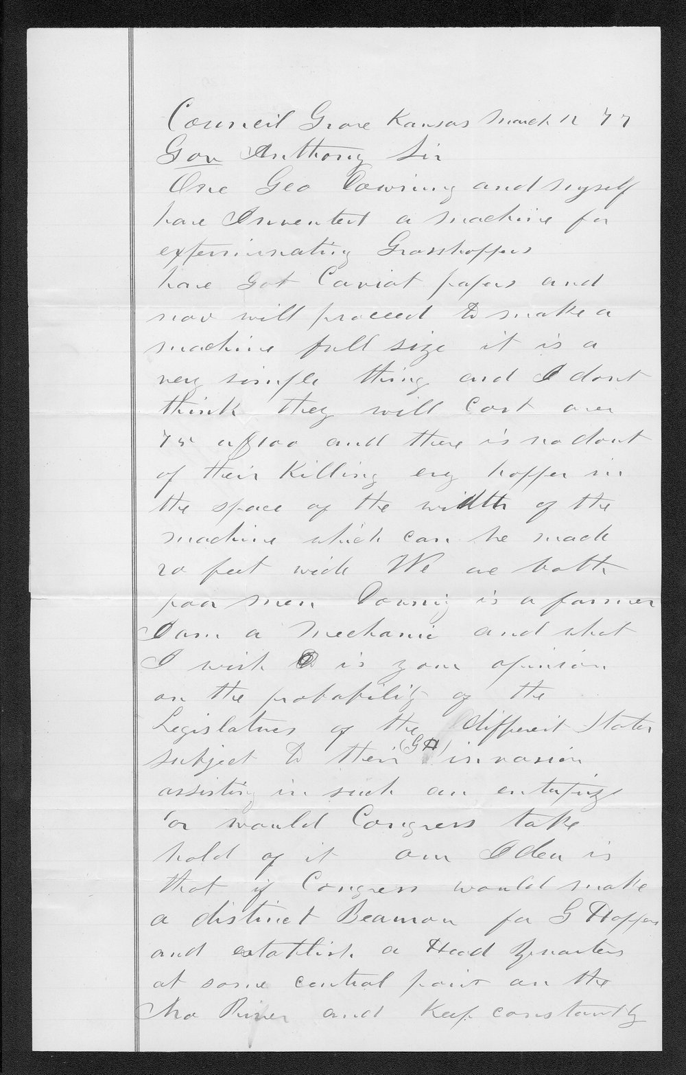 Governor George Anthony grasshoppers received correspondence - 12