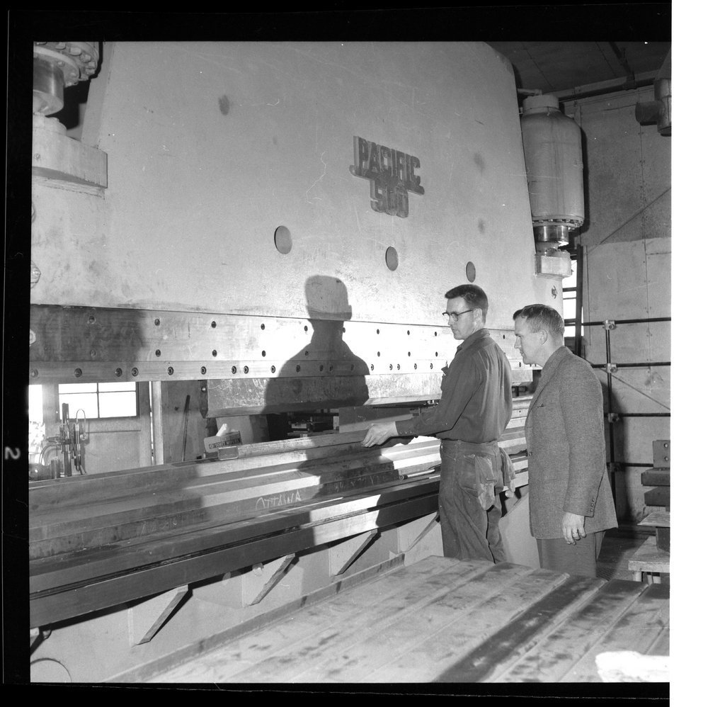 Interior scenes of Ottawa Steel Products, Kansas - 1