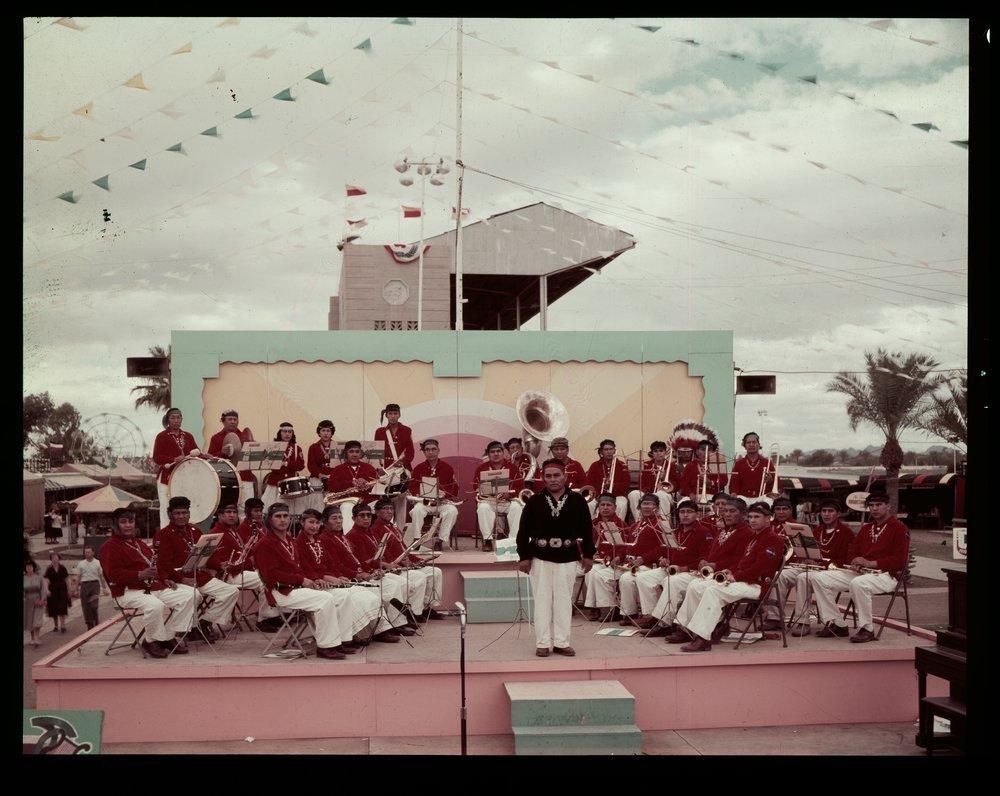 Atchison, Topeka and Santa Fe Railway Company band, Phoenix, Arizona