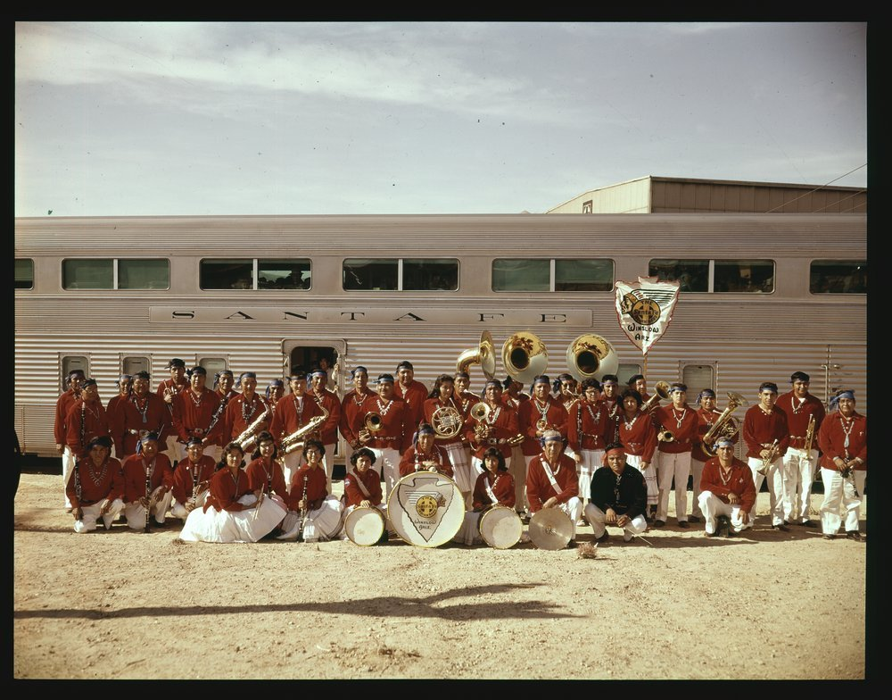 Atchison, Topeka and Santa Fe Railway Company band, Winslow, Arizona
