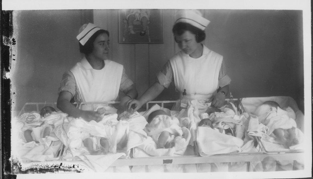 Nurses and babies - 2