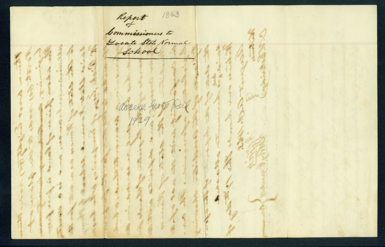 Governor Thomas Carney college and university lands, 1863, correspondence - 13