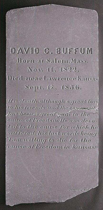 David C. Buffum's tombstone