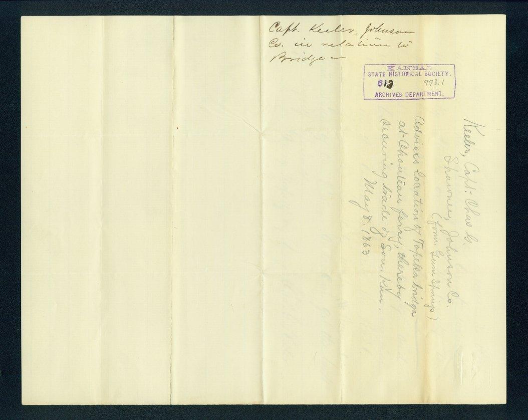 Charles Keeler to Governor Thomas Carney - 3