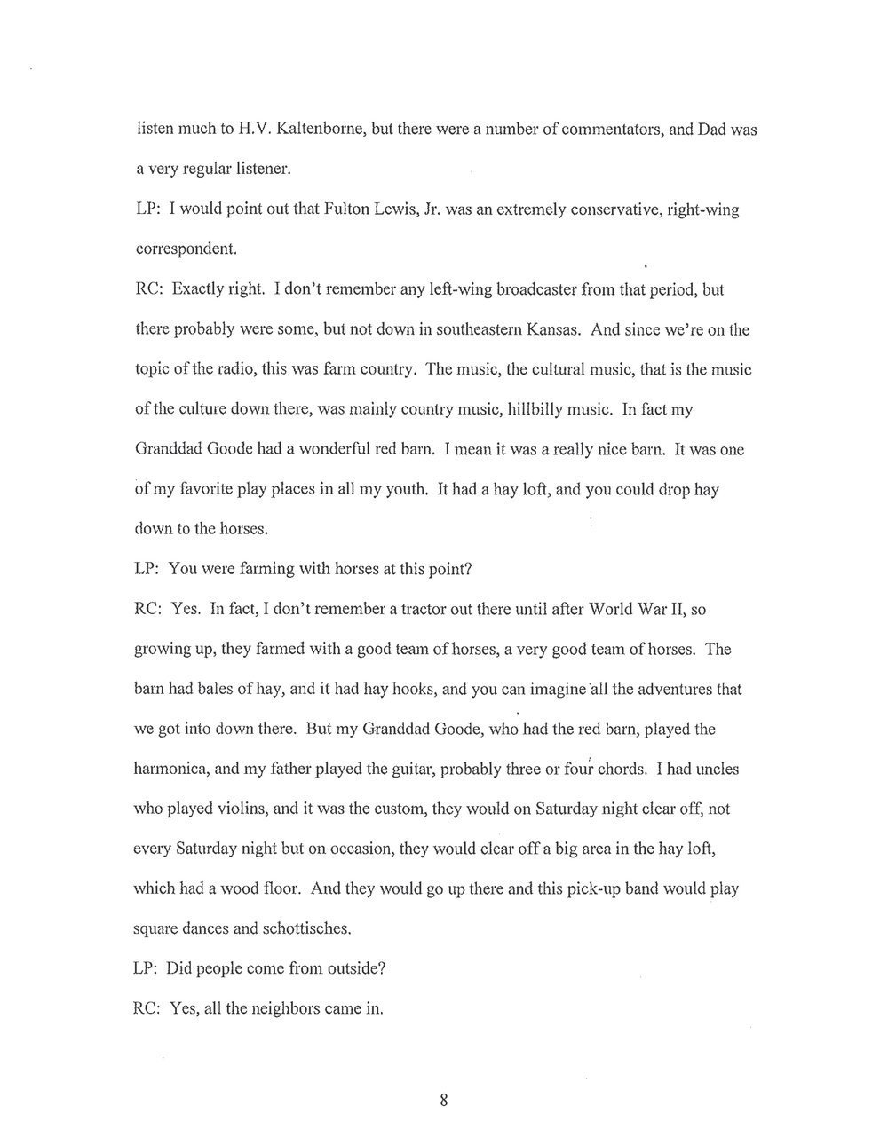 Everett Ray Call interviews - 10