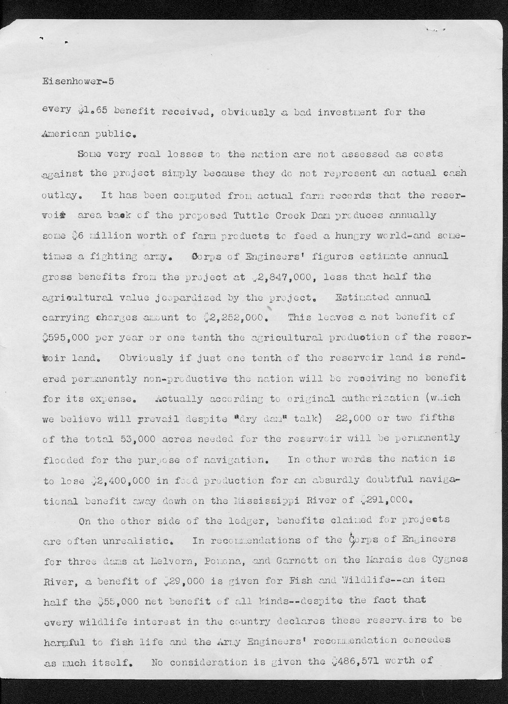 Edith Monfort to Dwight Eisenhower - 5