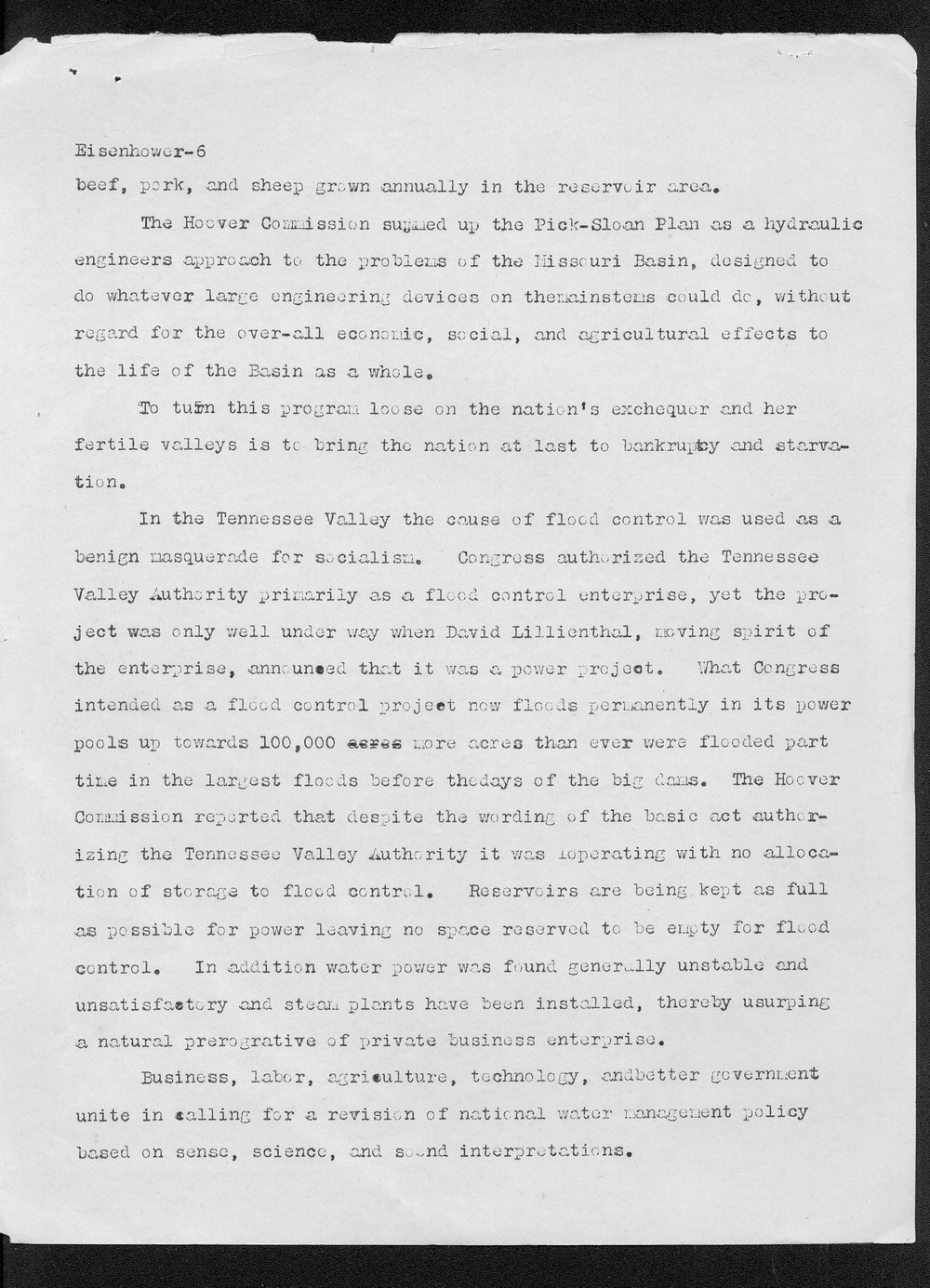Edith Monfort to Dwight Eisenhower - 6