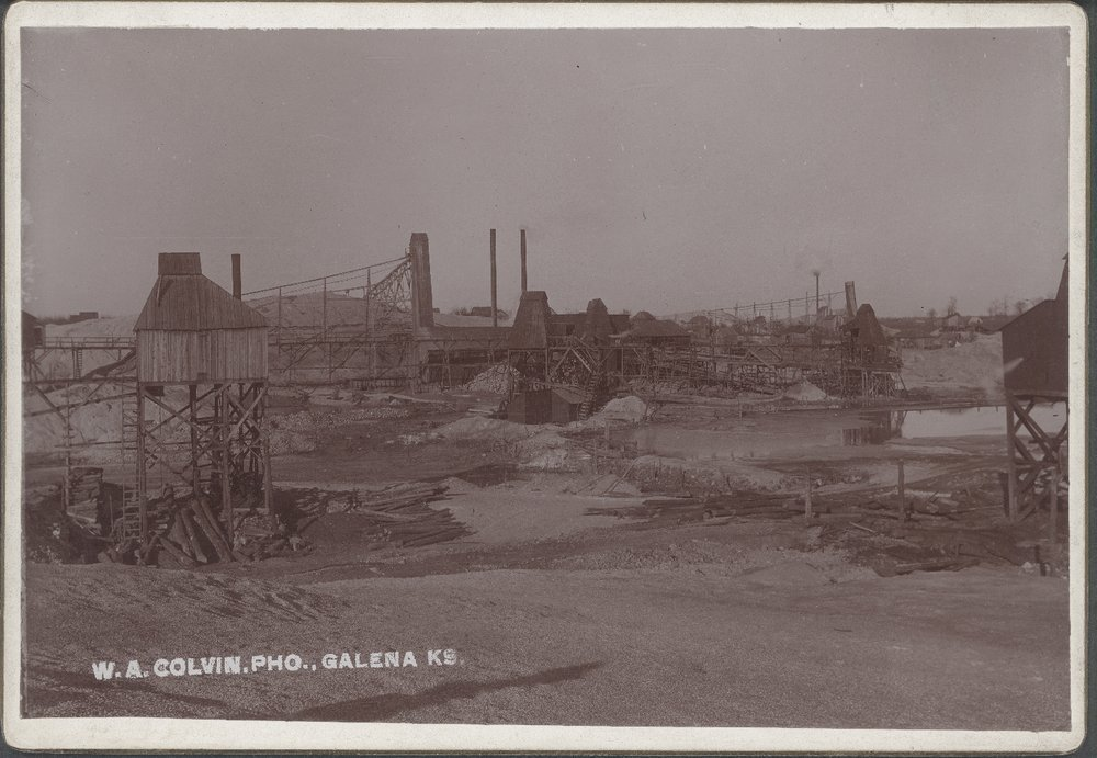 Mining scenes, Galena, Kansas - Photograph of a concentrating plant in north Empire City, Kansas.  Image *5