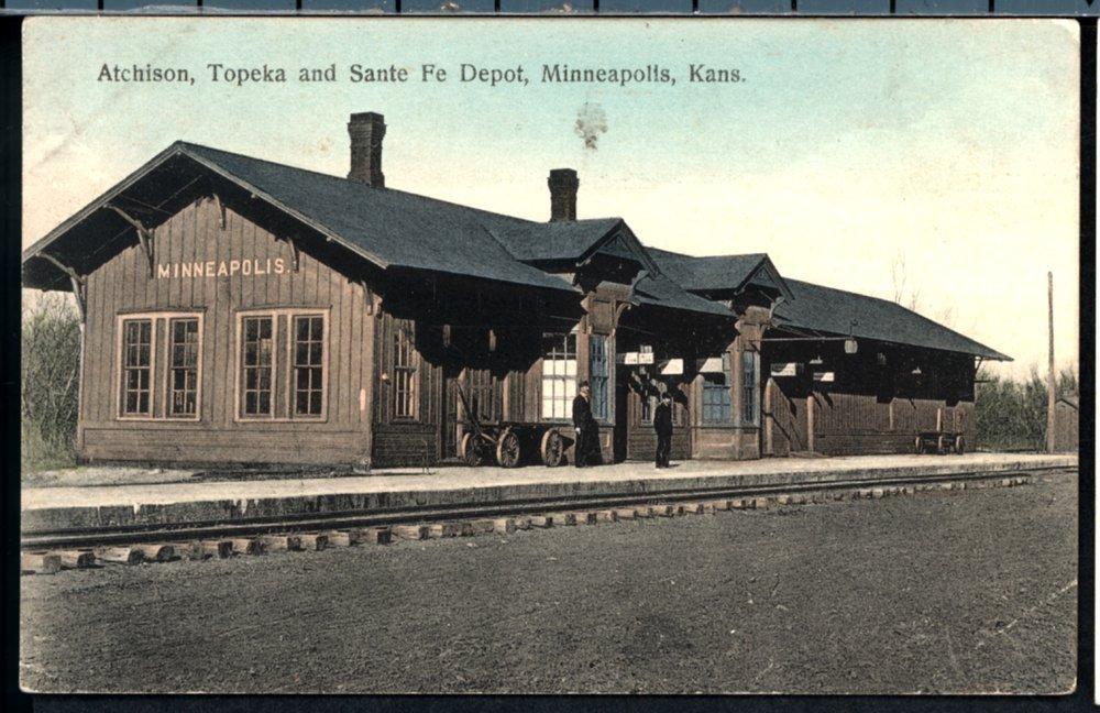 Atchison, Topeka and Santa Fe Railway Company depot, Minneapolis, Kansas