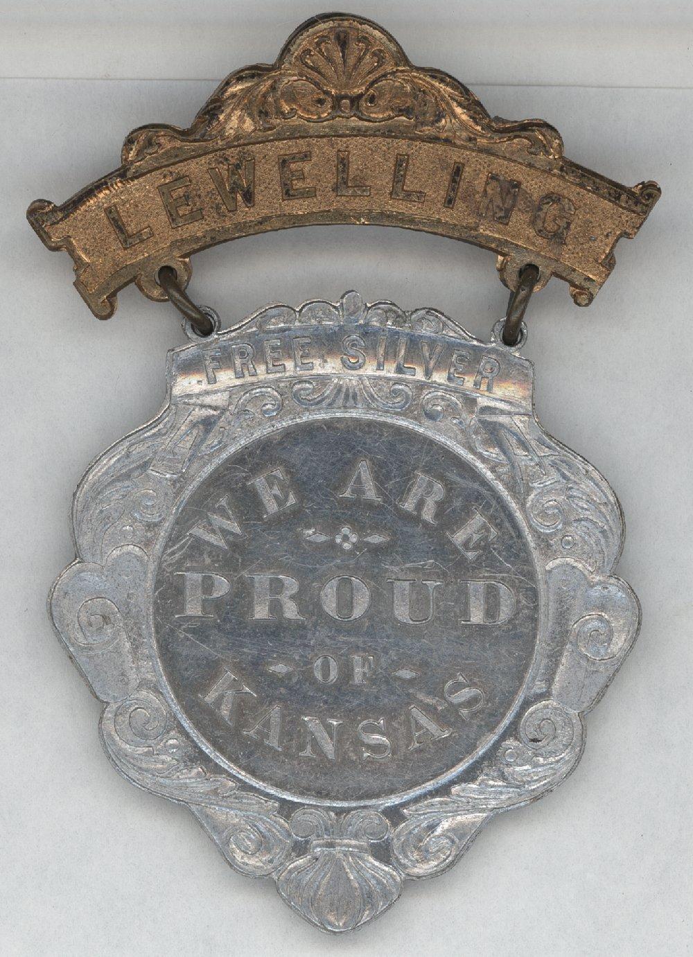 Lewelling political medal