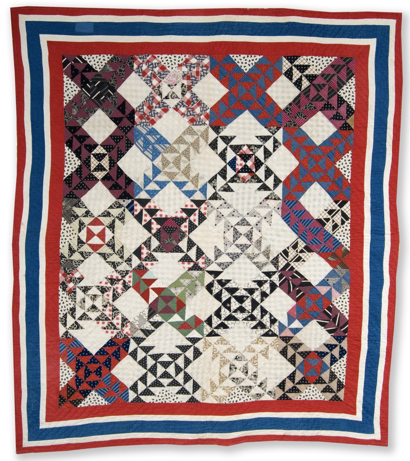 Old Maid's Ramble quilt