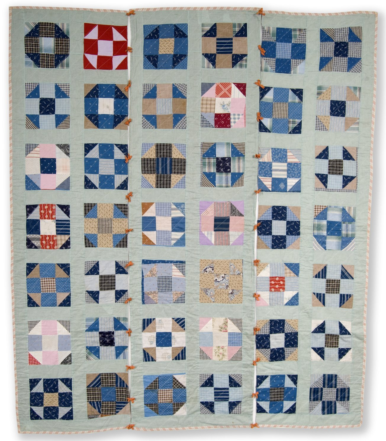 Shoo Fly or Double Monkey Wrench quilt - Kansas Memory - Kansas ... : monkey wrench quilt pattern history - Adamdwight.com