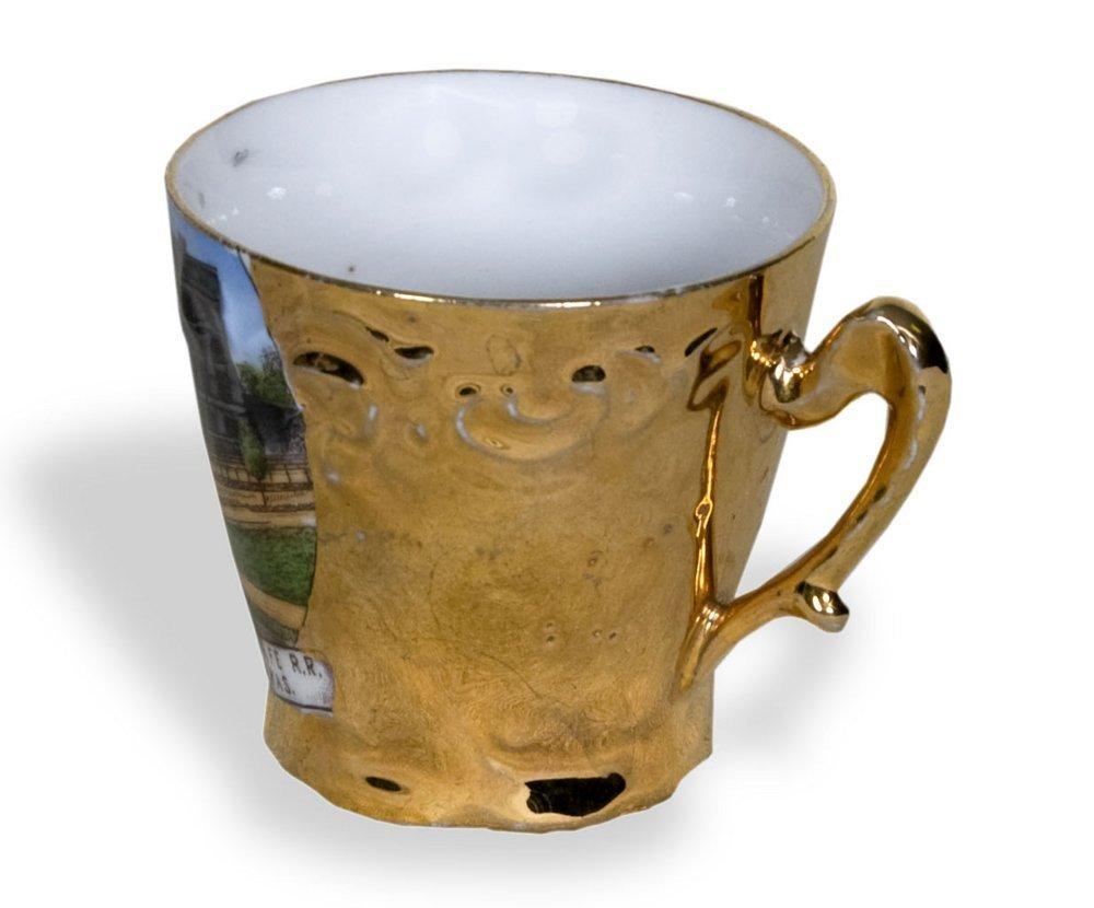 AT & SF Railway demmitasse cup - 2