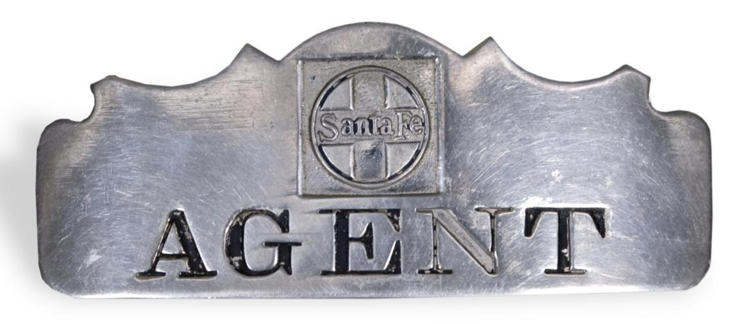 AT & SF Railway agent's pin