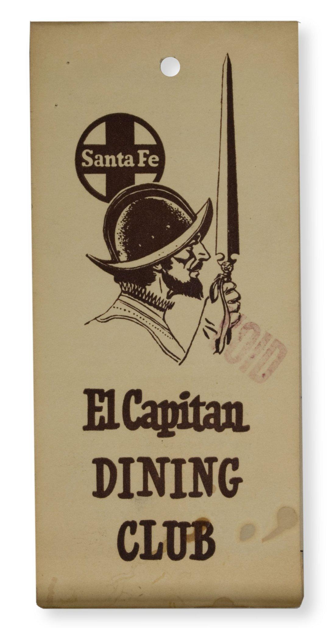 El Capitan Dining Club coupon booklet