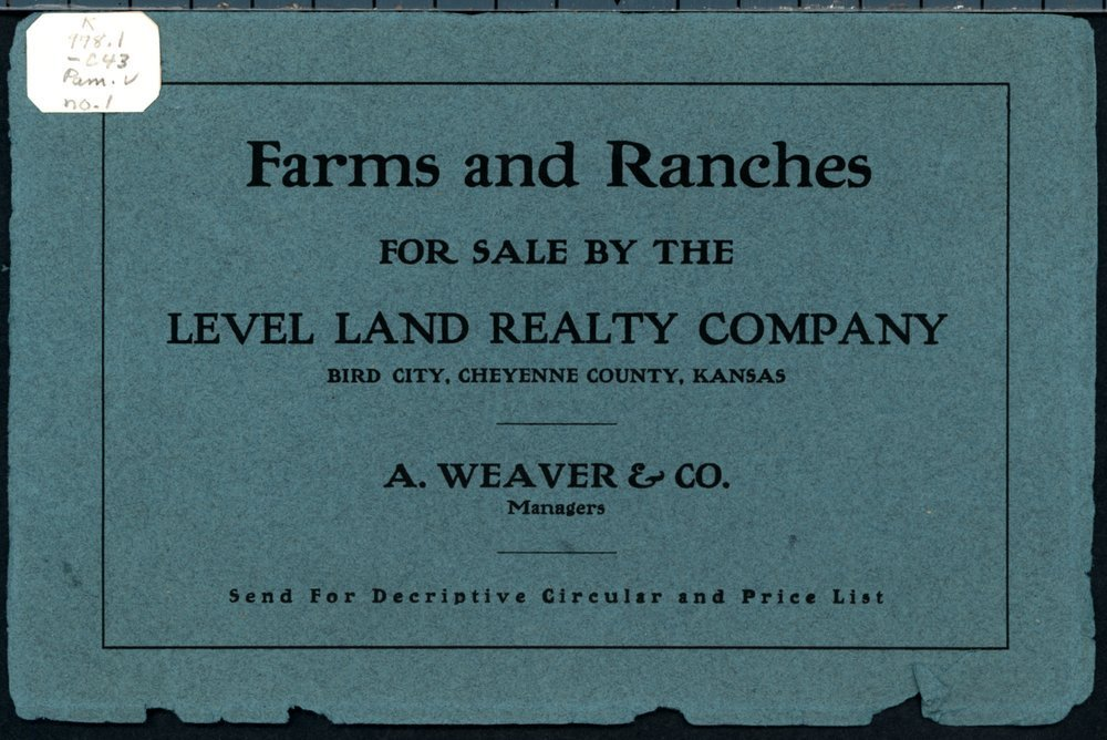 Farms and ranches for sale by the Level Land Realty Company - Front Cover