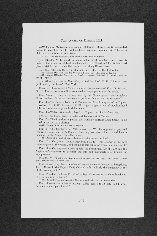 Annals of Kansas, volume two, 1911-1925 - 3