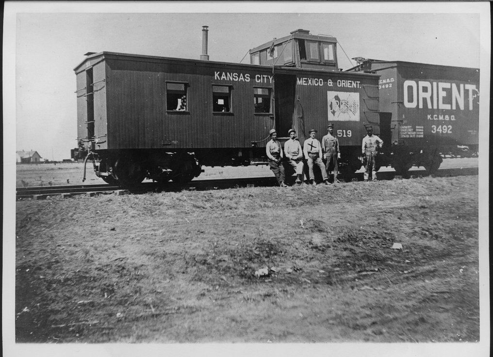 Kansas City, Mexico and Orient Railway caboose, Rule, Texas