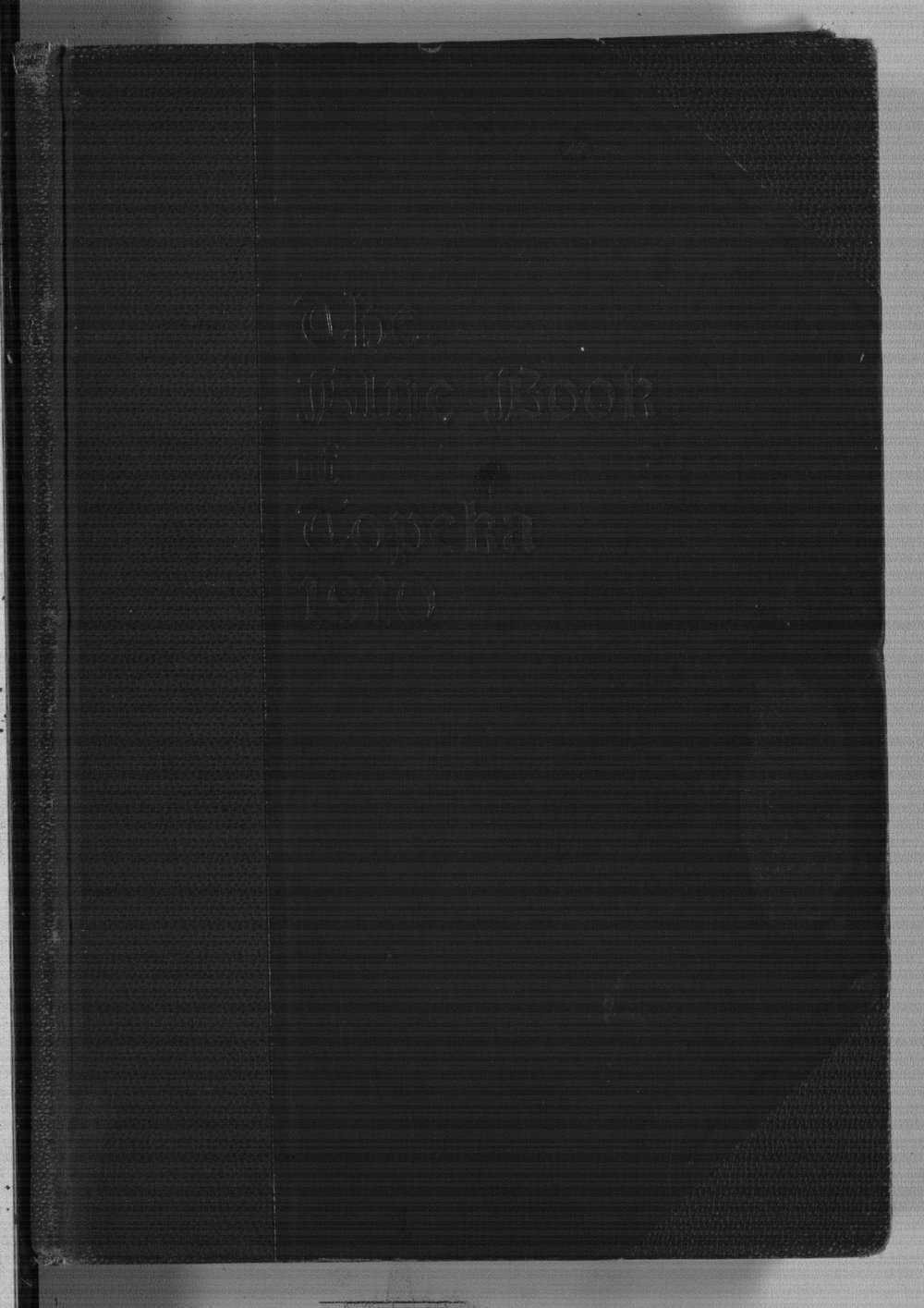 The blue book of Topeka - Front Cover