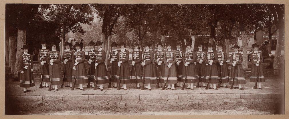 Girl's Cadet Drill Team, Wamego, Kansas