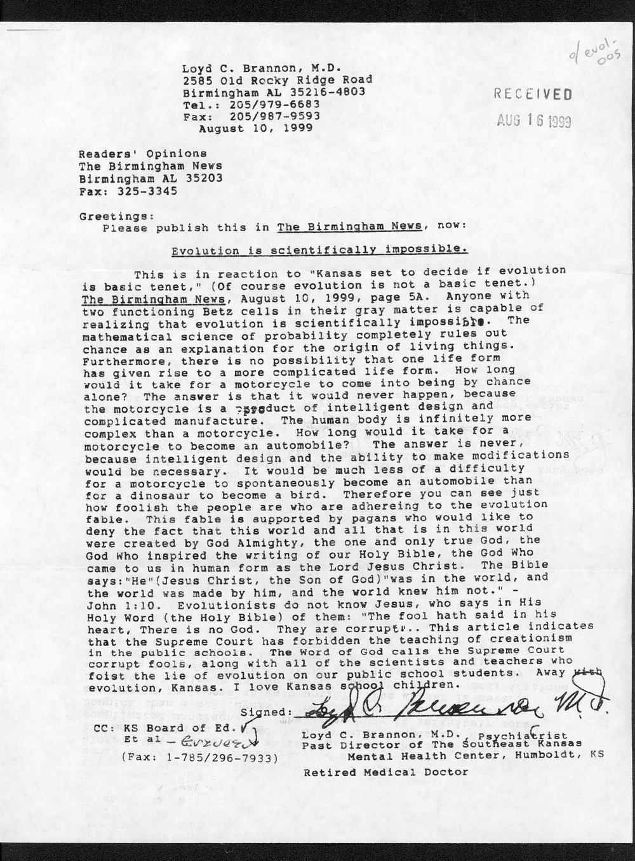 Governor William Graves evolution received correspondence - 11