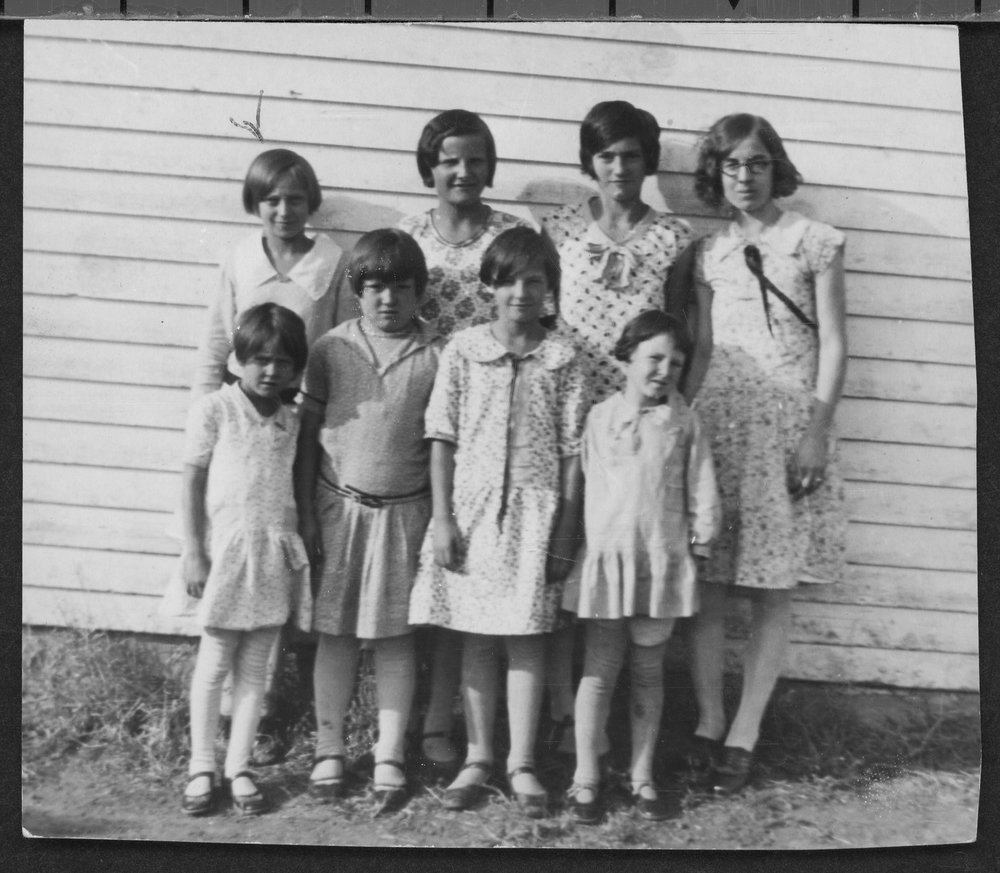 Students at Stach School in Jackson County, Kansas