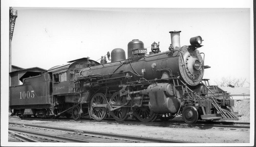 Atchison, Topeka & Santa Fe Railway Company's steam engine #1005