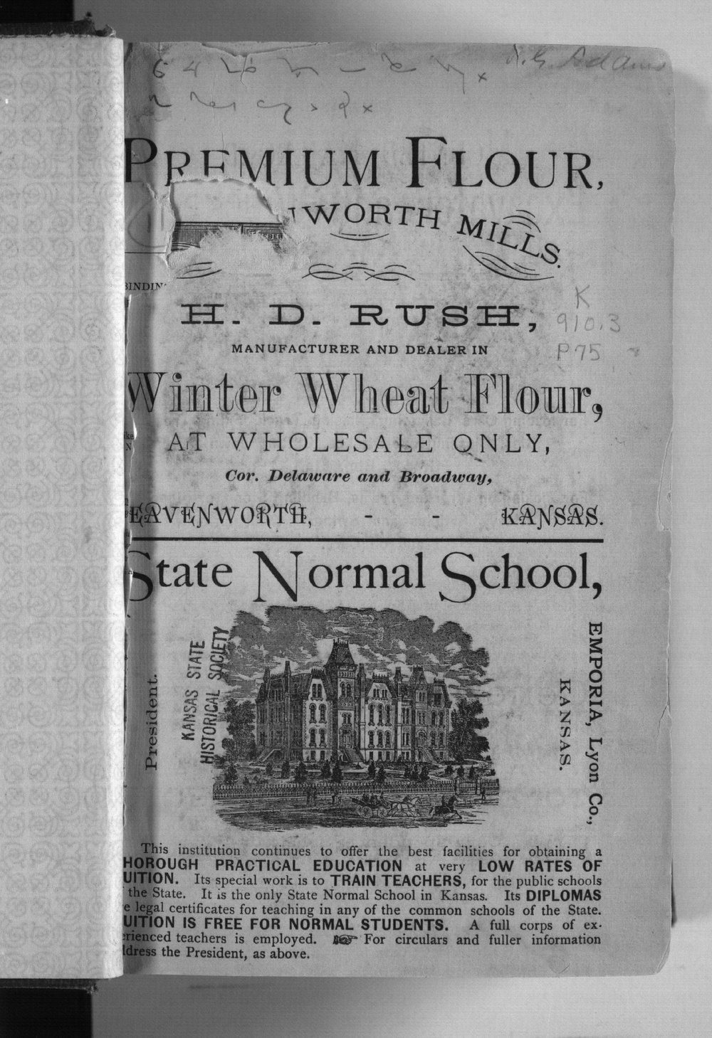 Kansas state gazetteer and business directory - advertisement