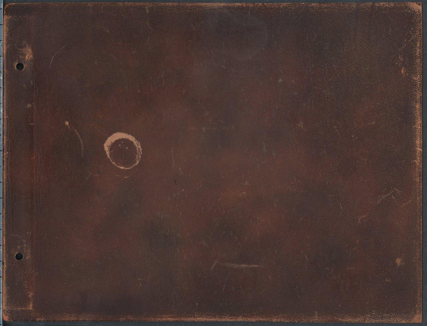Albin Kasper Longren's photograph album - Back Cover