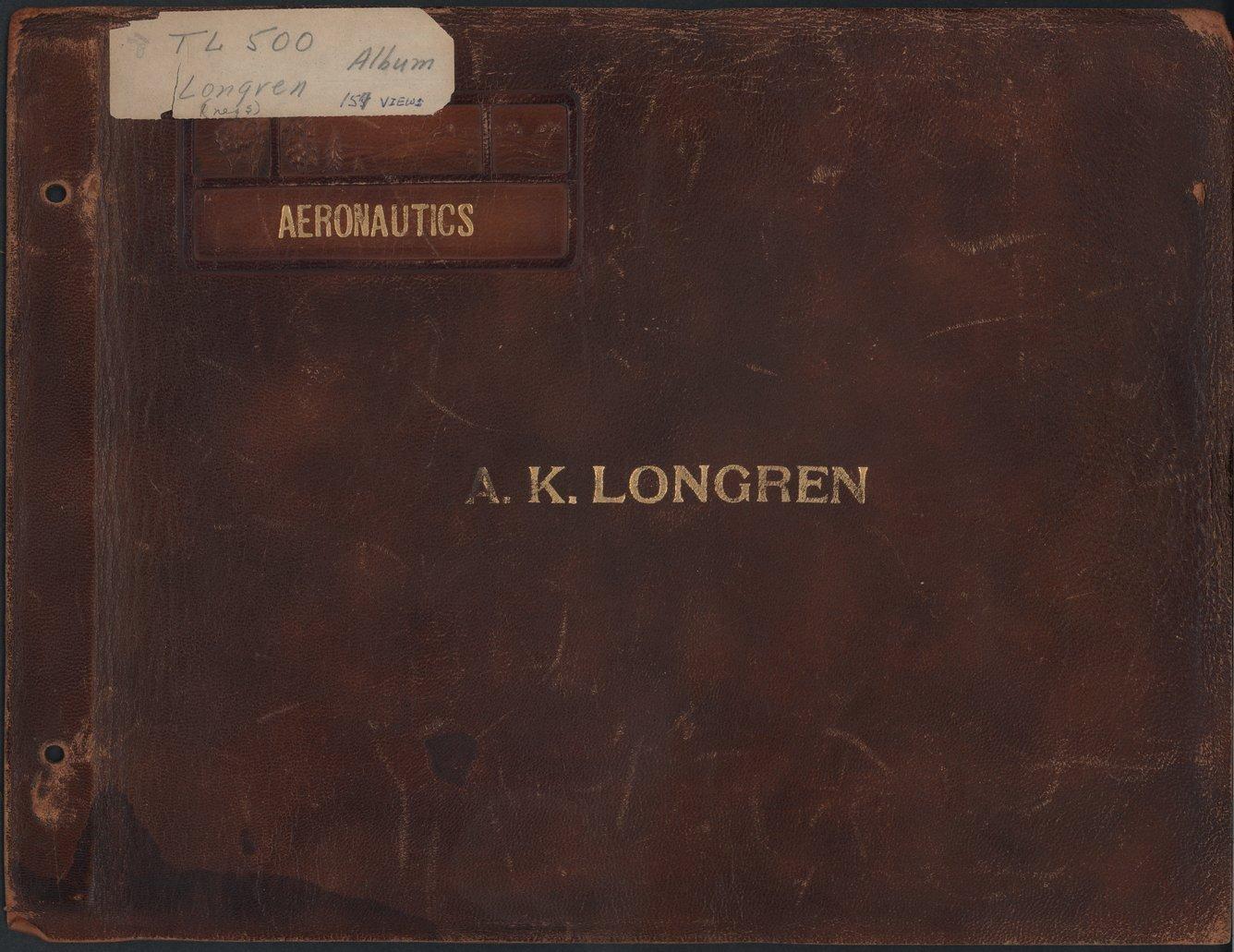 Albin Kasper Longren's photograph album - Front Cover