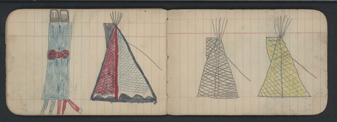 Pictures drawn by Wild Hog and other Cheyenne Indians - 4-5