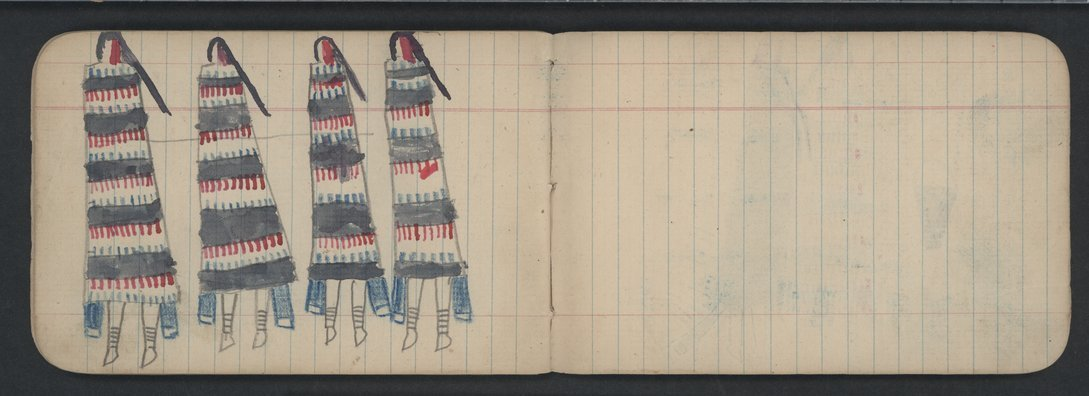 Pictures drawn by Wild Hog and other Cheyenne Indians - 10-11