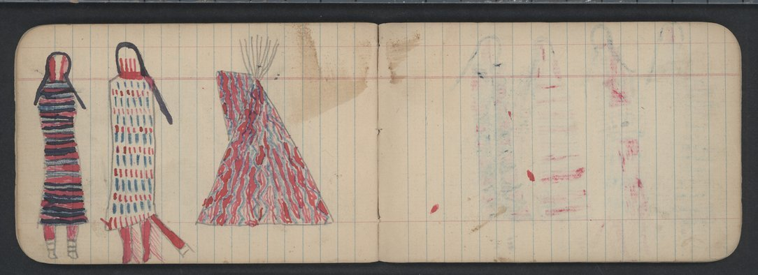 Pictures drawn by Wild Hog and other Cheyenne Indians - 14-15