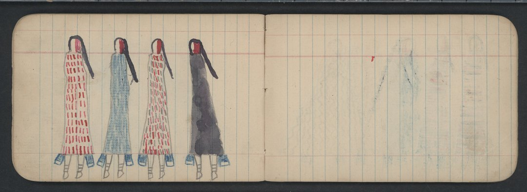 Pictures drawn by Wild Hog and other Cheyenne Indians - 18-19