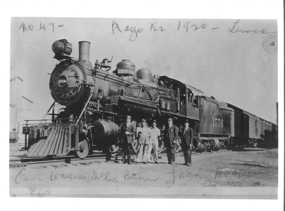 Atchison, Topeka & Santa Fe Railway Company's steam locomotive #1556