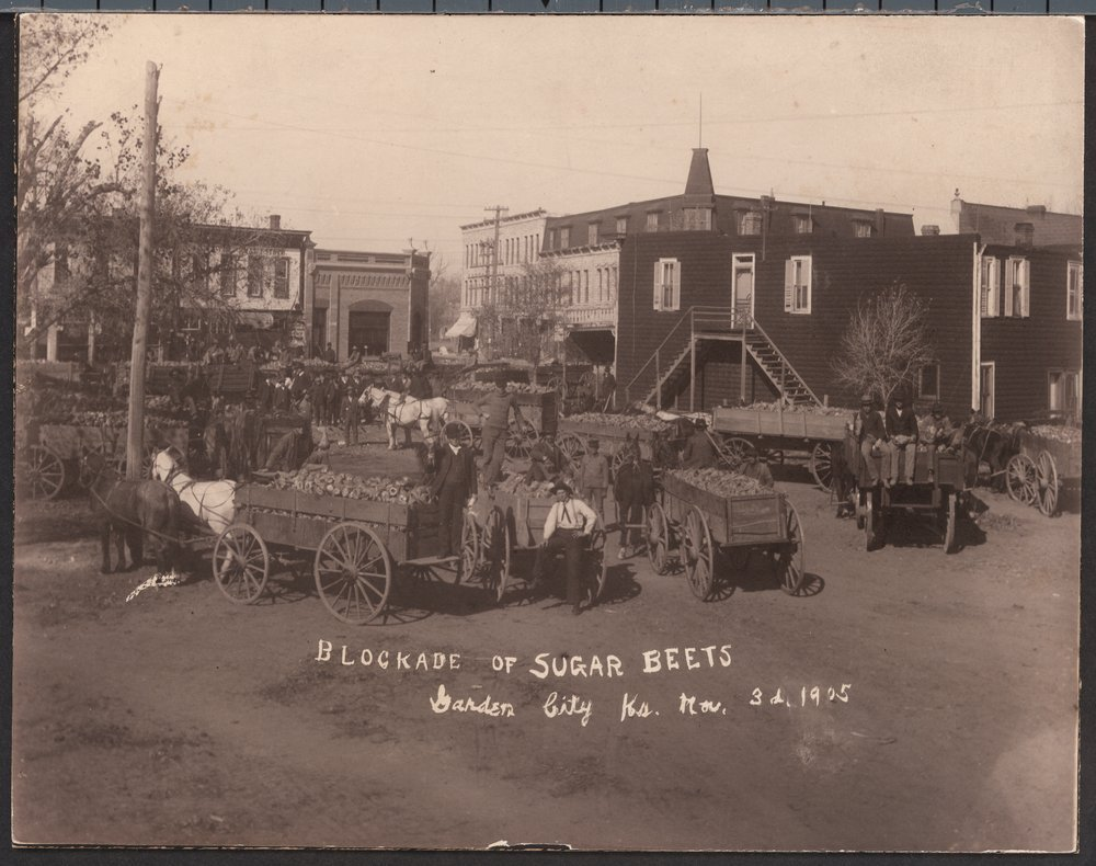 Blockade of sugar beets in  Garden City, Kansas