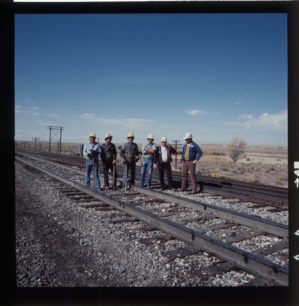 Atchison, Topeka & Santa Fe Railway Company's track crew, Arizona - 1