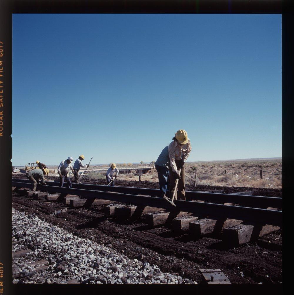 Atchison, Topeka & Santa Fe Railway Company's track crew, Arizona - 5