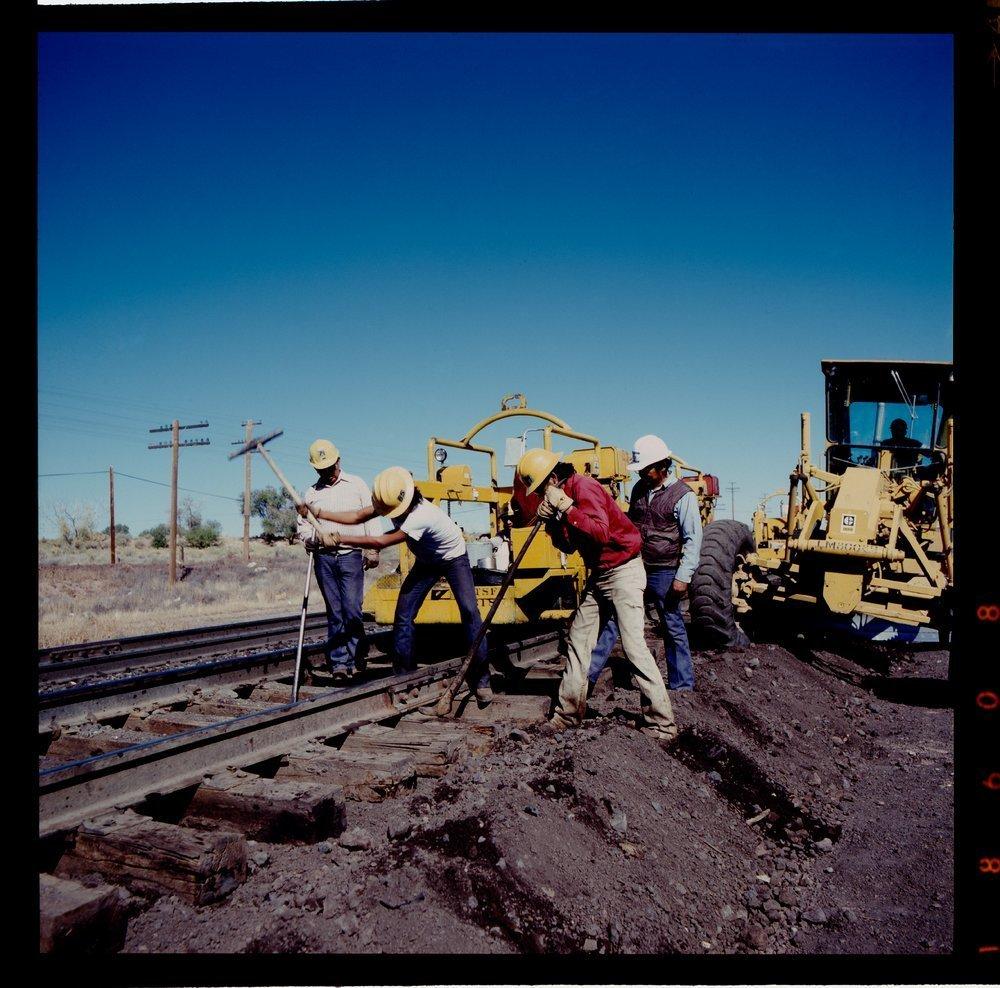 Atchison, Topeka & Santa Fe Railway Company's track crew, Arizona - 2