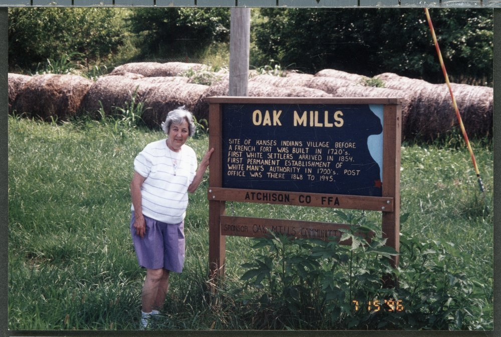 Mary Mildred McNerney Lykins at Oak Mills school in Atchison County, Kansas - 7