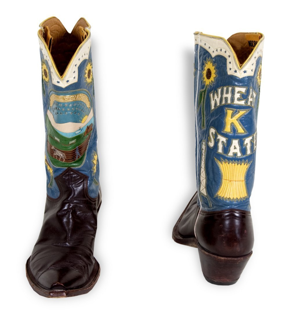 Governor Fred Hall's cowboy boots - 2
