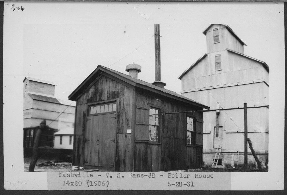 Atchison, Topeka & Santa Fe Railway Company boiler house, Nashville, Kansas