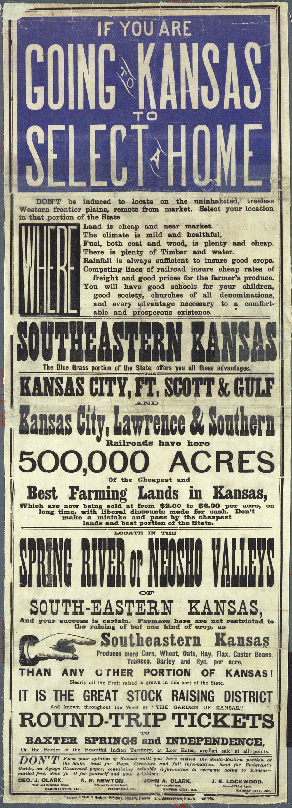 If you are going to Kansas to select a home . . .