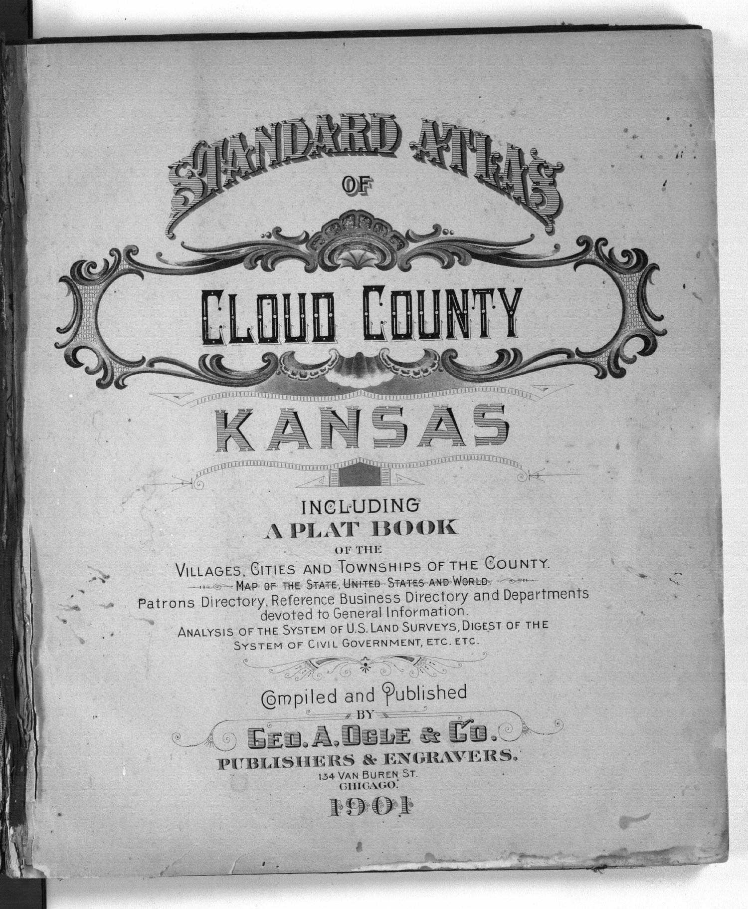 Standard atlas of Cloud County, Kansas - Title Page